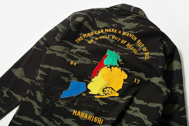maharishi New York City Five Boroughs overshirt t-shirt camo black white release info