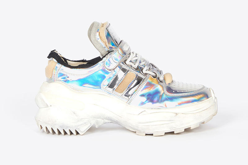 Maison Margiela Retro Fit Sneakers Fall Winter 2018 Red Blue Silver Gold Black White High Top Low