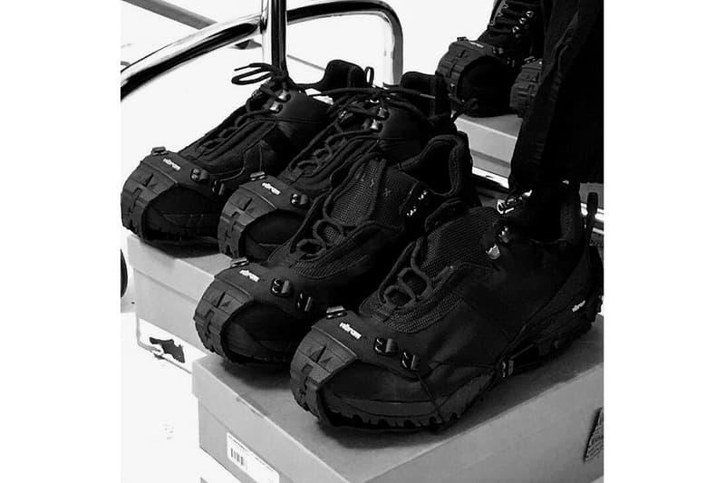 Matthew M. Williams New ALYX Sneaker Preview fall winter 2018 2019 hiking tech wear streetwear vibram all black footwear