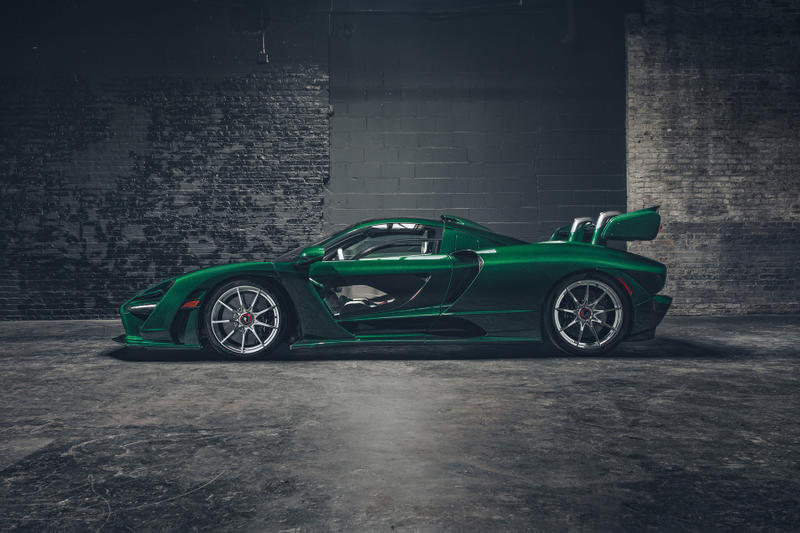 McLaren Senna green carbon fiber body custom special operations 1000 hours work america new york first car automobile hypercar