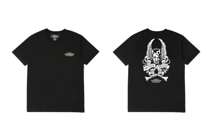 neighborhood hong kong beijing capsule collection black t shirt