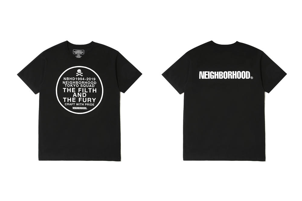 neighborhood hong kong beijing capsule collection black t shirt