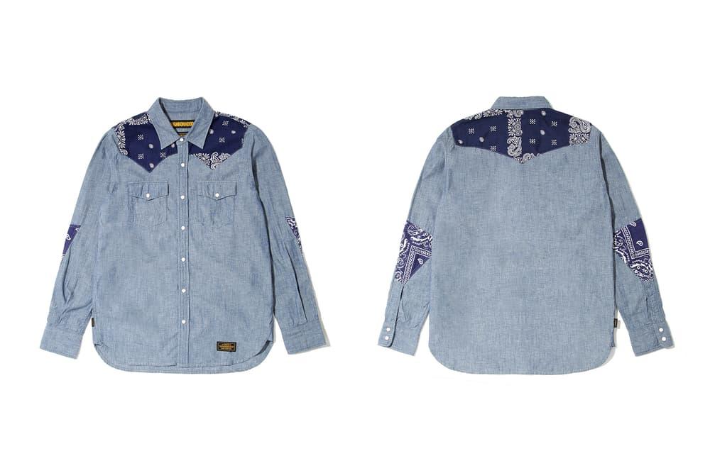 neighborhood hong kong beijing capsule collection denim shirt