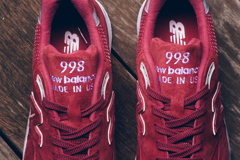 New Balance 998 RBE Red Details Womens Available Purchase Cop Buy Now Kicks Shoes Trainers Sneakers