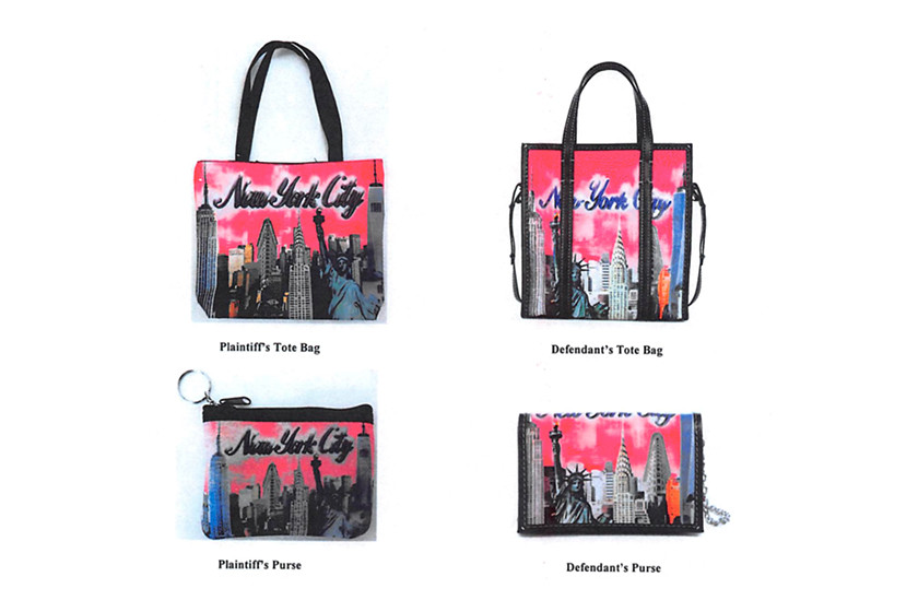 New York Souvenir Company Balenciaga Copyright Infringement Lawsuit Sued Multicoloured New York Bazar Shopper City Merchandise Inc