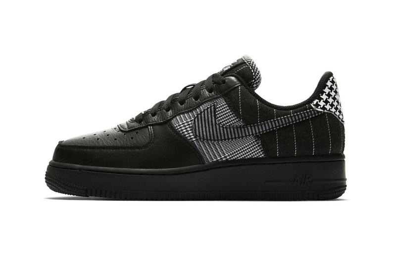 Nike Air Force 1 Low Patchwork Release Details Cop Purchase Buy Sneakers Kicks Trainers Shoes Footwear sale custom houndstooth herringbone black leather