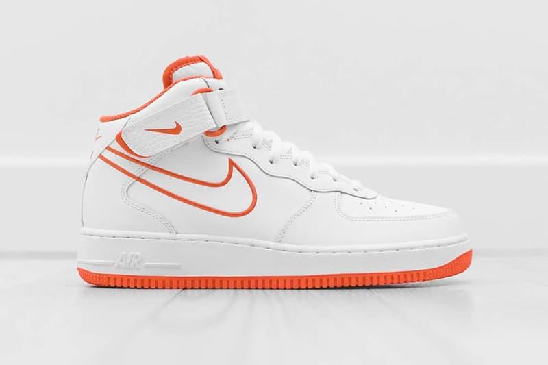 ecc8422a29c7c Nike Air Force 1 Mid Terra Orange colorway Summer Release Nike Sportswear  sneaker footwear