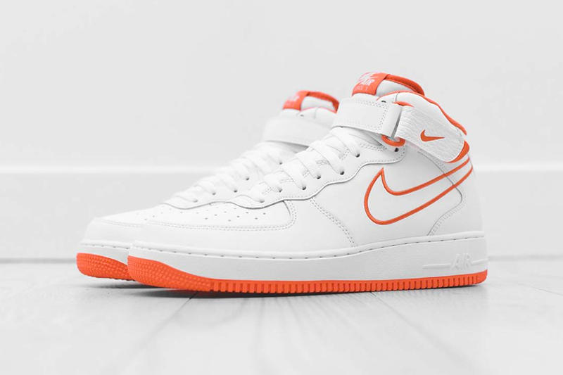 Nike Air Force 1 Mid Terra Orange colorway Summer Release Nike Sportswear sneaker footwear