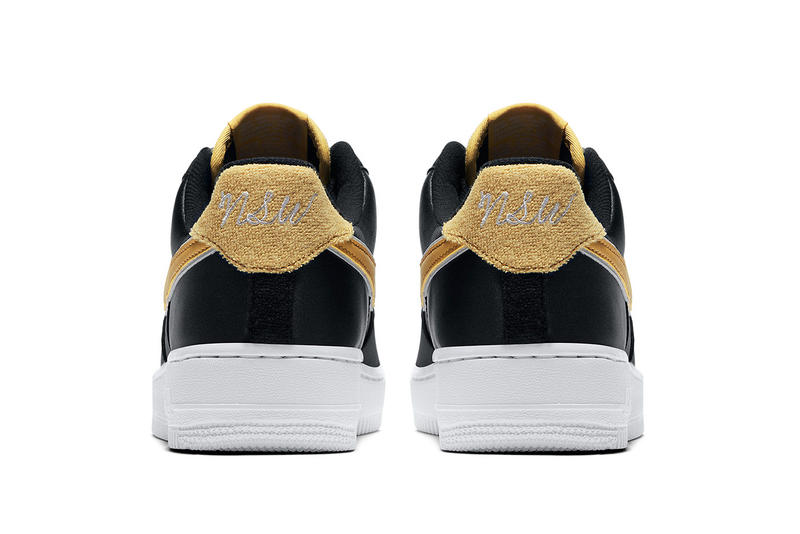 Nike Air Force 1 Low Satin Black and Gold