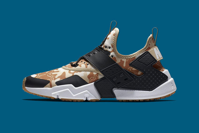 """Nike Air Huarache Drift """"Camo"""" Colorways release date grey olive sneakers camouflage print"""
