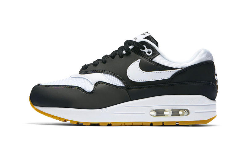 wholesale dealer e796e b2a48 Nike Air Max 1 Black White Gum Sole Release Official Images