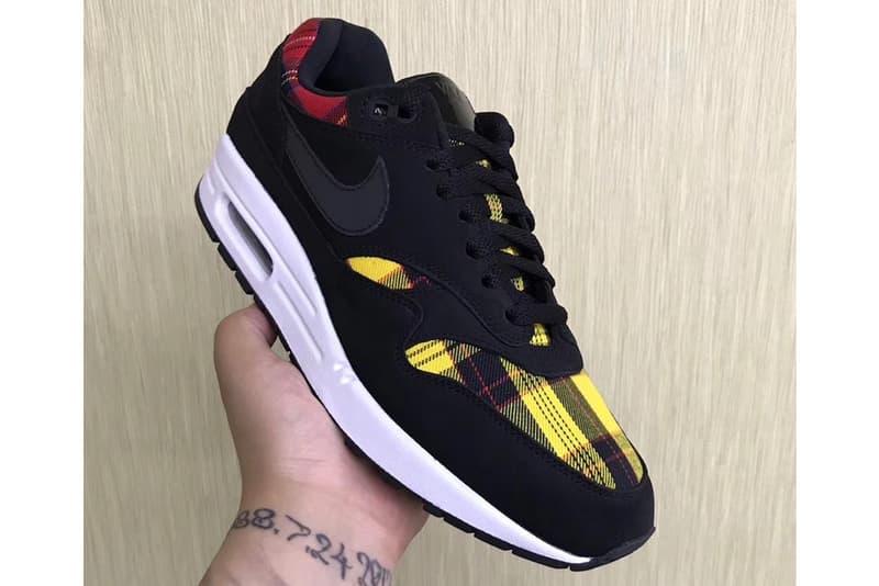 "Nike Air Max 1 ""Plaid"" First Look sneaker release date price info tartan black printed"