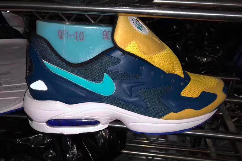new styles 6cf15 c911f Nike Air Max2 Light 94 Retro First Look sneaker blue yellow navy gold