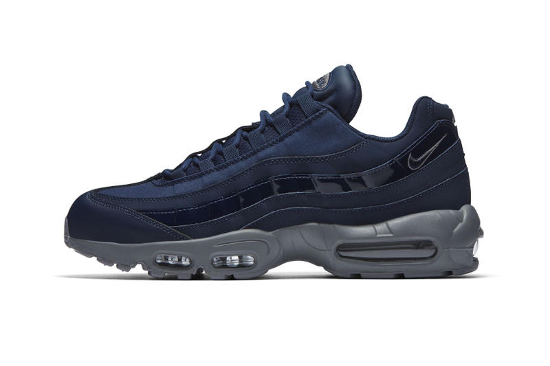 sale retailer 3d1fb cac8c nike air max 95 obsidian patent leather sneakers shoes footwear