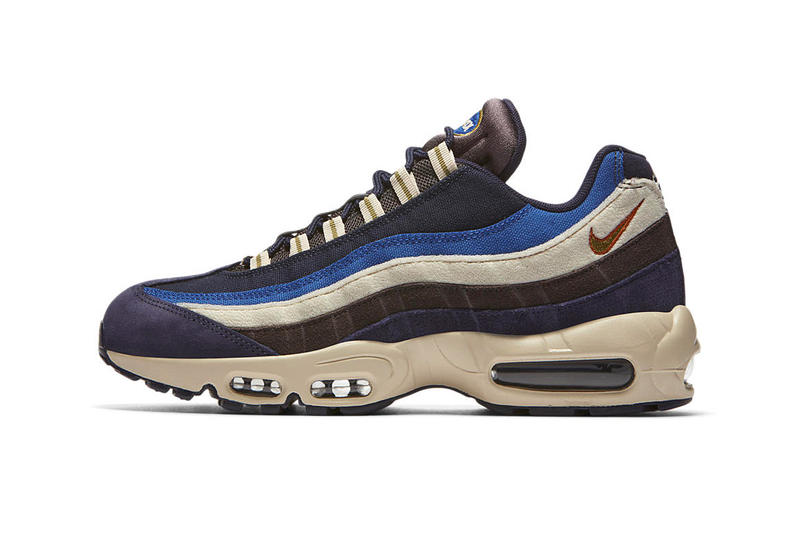 new style 42b3d 5f12f Nike Air Max 95 Receives a Premium Blue and Brown Rework. Canvas, suede and  nubuck.
