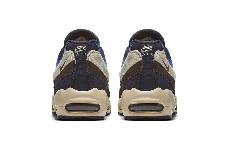 Nike Air Max 95 Premium Blue & Brown Colorway sneaker release date suede nubuck canvas