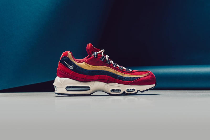 NIKE AIR MAX 95 PREMIUM RED CRUSH PROVENCE PURPLE WHEAT GOLD sneaker shoe buy release purchase