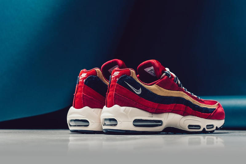 8ba3c504affb NIKE AIR MAX 95 PREMIUM RED CRUSH PROVENCE PURPLE WHEAT GOLD sneaker shoe  buy release purchase