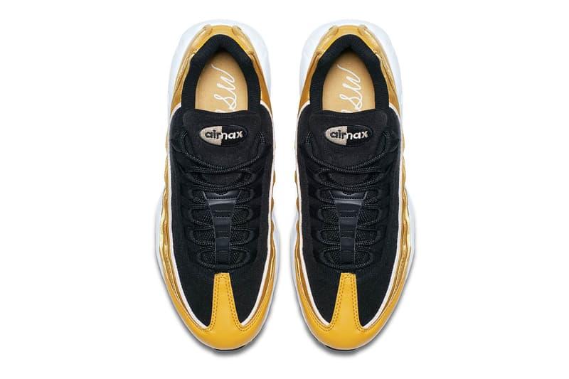 Nike Air Max 95 LX Satin Gold NSW logo Nike Sportswear Sergio Lozano summer release