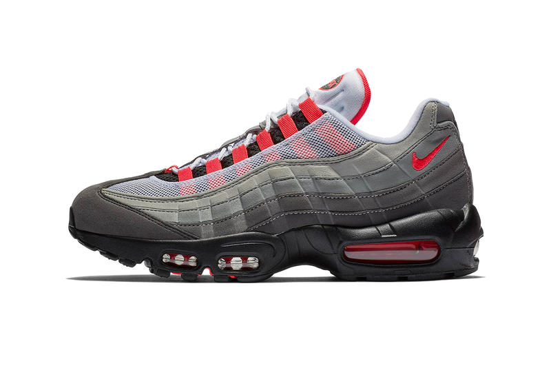 big sale d7991 16430 Nike Air Max 95 OG Grey Solar Red Release Date launch sneaker release date  cop buy