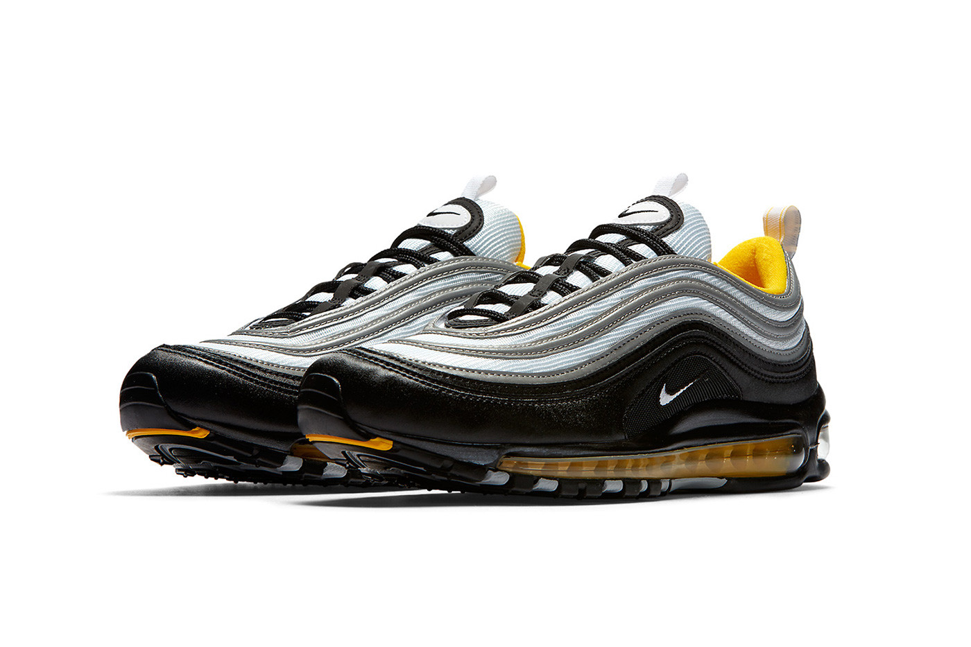 white black and yellow air max 97