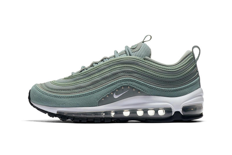Nike Air Max 97 Mica Green Corduroy Studs Release Details Footwear Shoes Trainers Sneakers Kicks Date Coming Soon Purchase Cop Buy