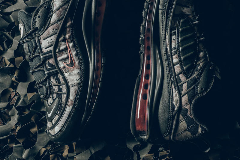 Nike Air Max 98 Cargo Khaki Sunset Tint Camouflage Army military pattern drop release date info closer look buy purchase sale