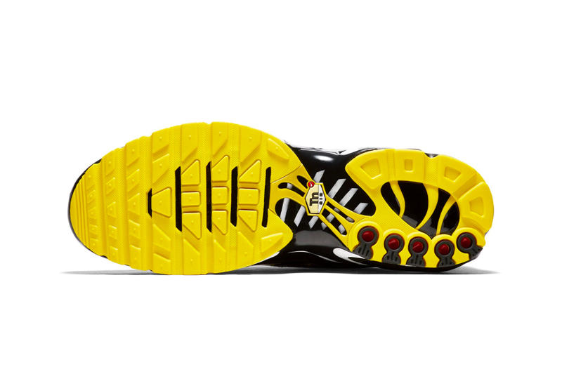 "Nike Air Max Plus QS ""Tn Logo"" pattern sneaker white black yellow"