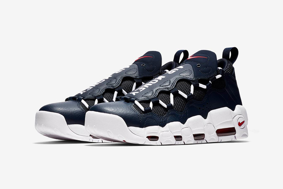 50a09ff3eb1cf Nike Air More Money Navy & Red Colorways Release | HYPEBEAST