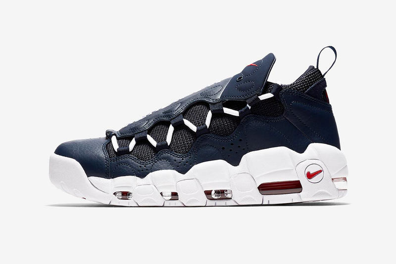 51271e3b94a Nike Air More Money Navy Red Release date sneaker price tonal leather