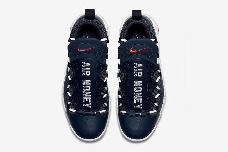 Nike Air More Money Navy Red Release date sneaker price tonal leather