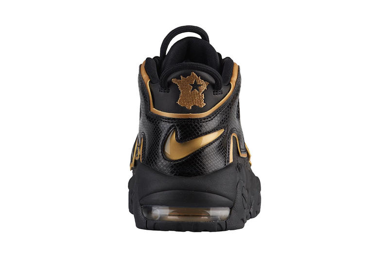 nike air more uptempo france black metallic gold 2018 footwear