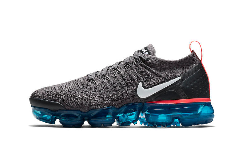 reputable site 0ef92 6b310 Nike Air VaporMax 2 Flyknit Thunder Grey White Geode Teal Black Hot Punch  release info sneakers