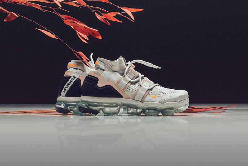 57fd601b88fbb nike air vapormax utility flyknit light bone summit white feature sneaker  boutique july 6 2018 drop