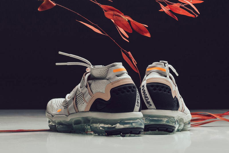 505583b8526 nike air vapormax utility flyknit light bone summit white feature sneaker  boutique july 6 2018 drop