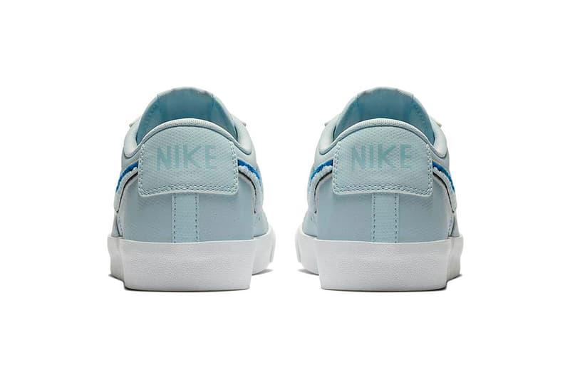 Nike Blazer Low Ice Blue royal blue 3D Chenille Swoosh release info sneakers footwear