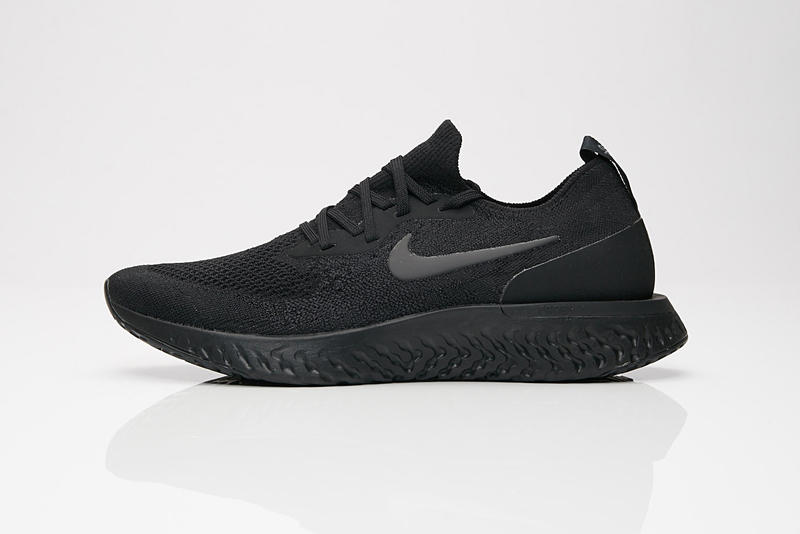 Nike Epic React Flyknit Triple Black all Buy Now purchase release date information sneakersnstuff grey gray