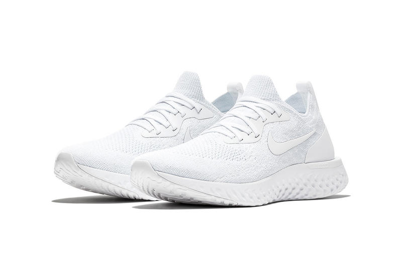 Nike Epic React Flyknit Triple White nike running 2018 july footwear