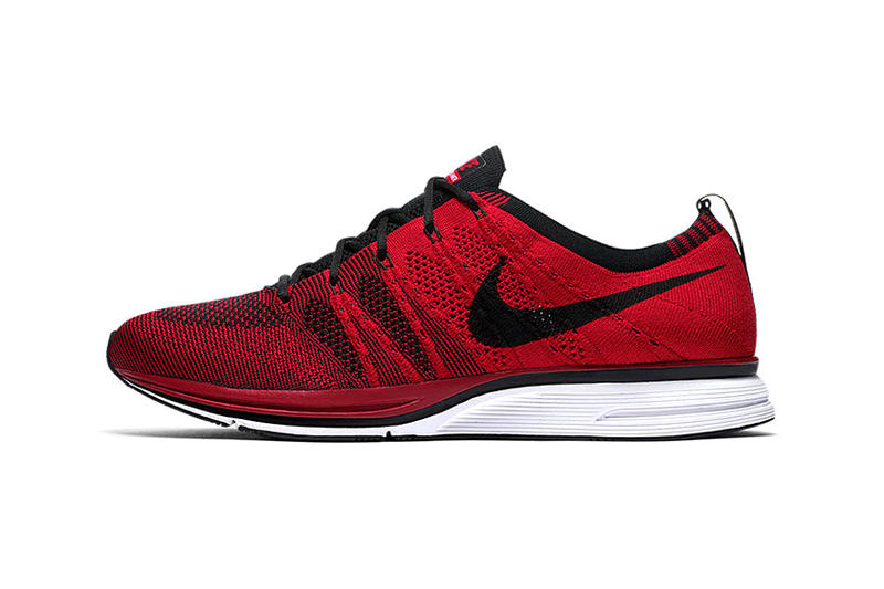 d18b85566079 A new two-tone look. Nike Flyknit Trainer University Red Info Release Red  Black White