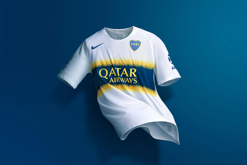 Nike FC Atletico Boca Juniors 2019 Kit Sports Soccer Carlos Tevez Argentina Football