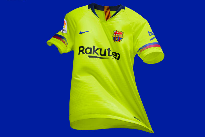 FC Barcelona 2019 Away Kit Nike Football Shirts Jerseys Shorts Socks Volt  Soccer 81770c96e07a2