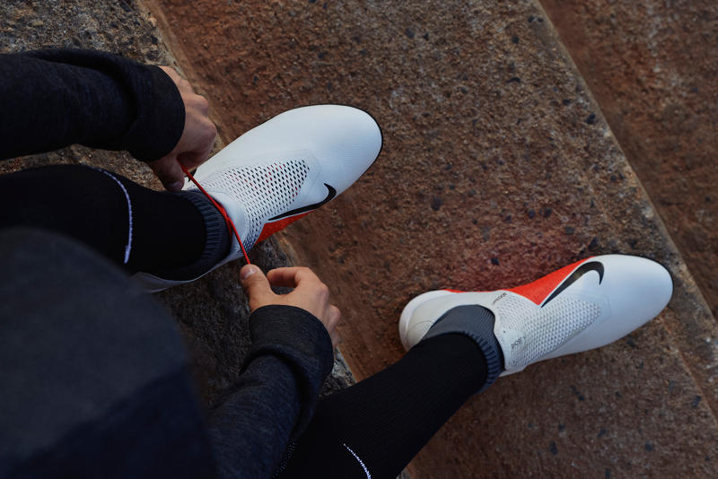 Nike Football Phantomvsn Boots Kicks Sneakers Trainers Footwear Cop Purchase Buy Available Soon Phil Coutinho Kevin De Bruyne Football Soccer Release Information Technology Quadfit Ghost Lace Young Blood Raised on Concrete Black Op Grey Red