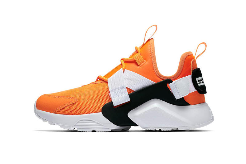 89a91f87edca Nike Huarache City low just do it collection orange white black nike  sportswear 2018 august footwear