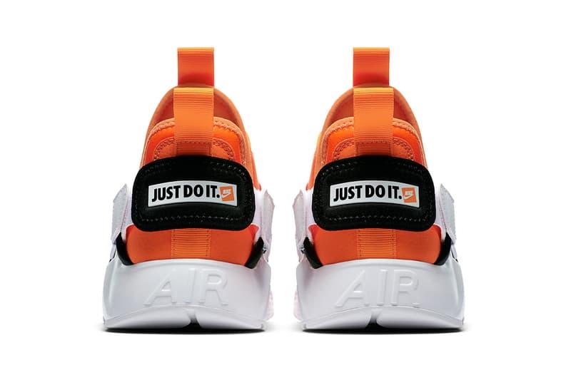 Nike Huarache City low just do it collection orange white black nike sportswear 2018 august footwear