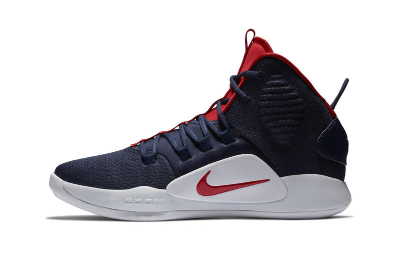 bf0230dec145 Nike Hyperdunk X USA Colorway patriotic theme navy red white 4th of July  new basketball silhouette