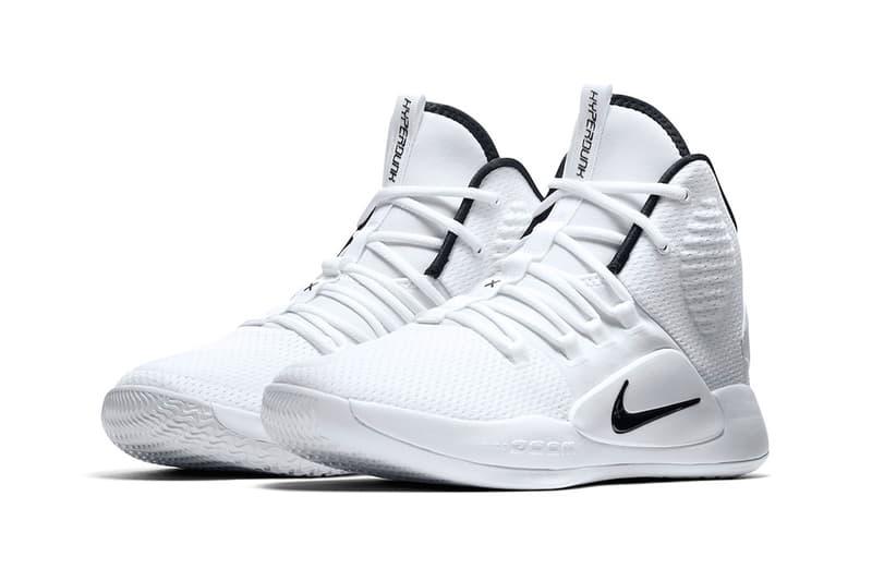 Nike Hyperdunk X White Black august 2018 release info basketball sneakers footwear