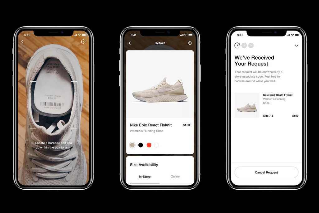 049e5142bbe1 Nike Introduces New In-Store Shopping App