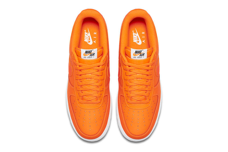 nike just do it orange air force 1 low
