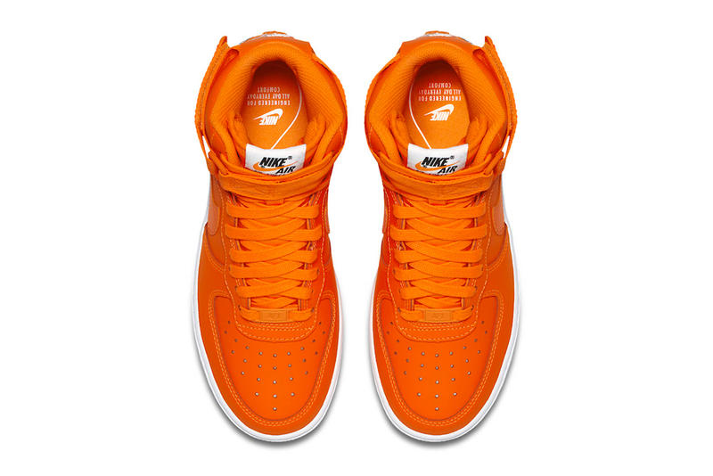 nike just do it orange air force 1 high