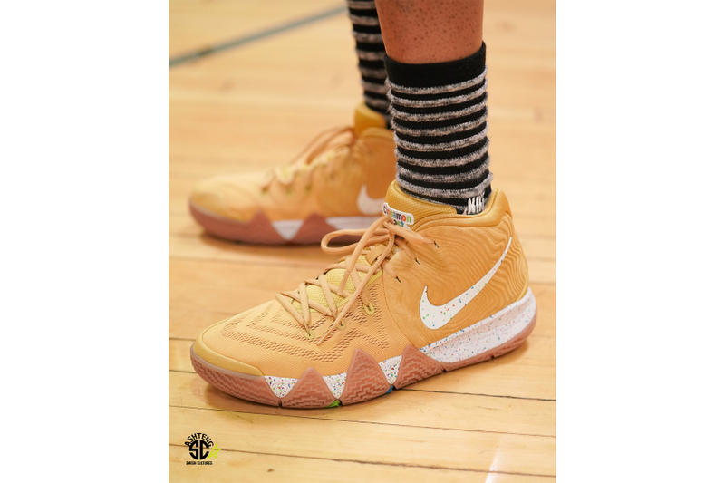"Nike Kyrie 4 ""Cinnamon Toast Crunch"" On-Foot sneaker cereal pack Kyrie irving release date price"